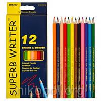 Набор цветных карандашей MARCO Superb Writer 4100-12CB, 12 цветов