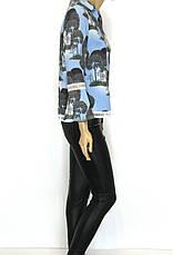 Нарядна блуза з мереживом рукав волан, фото 2