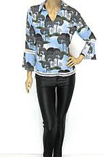 Нарядна блуза з мереживом рукав волан, фото 3