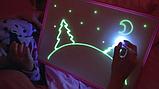 """Дошка планшет """"Малюй світлом"""" набір для малювання в темряві гра А3, фото 3"""