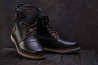 Ботинки мужские Zangak 136 черные (натуральная кожа, зима)