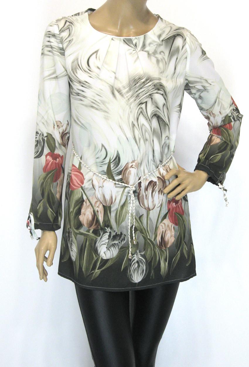 Шифоновая блузка туника