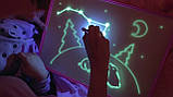 "Доска планшет ""Рисуй светом"" набор для рисования в темноте игра А4, фото 2"