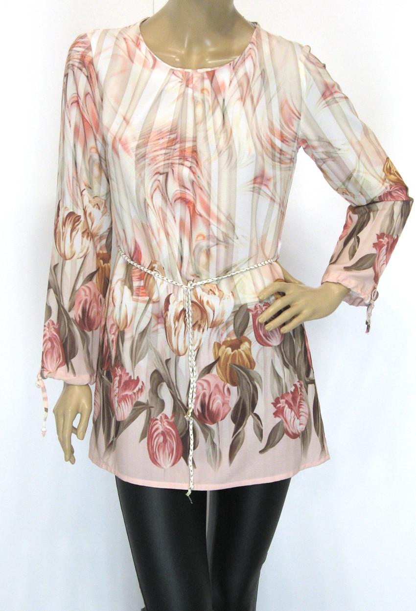 Шифонова пляжна блуза туника
