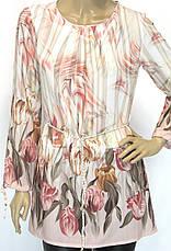 Шифонова пляжна блуза туника, фото 3
