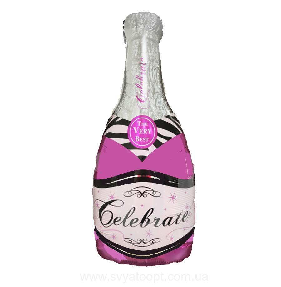 Фольгированный Шар — Бутылка Шампанского (100 см), Китай