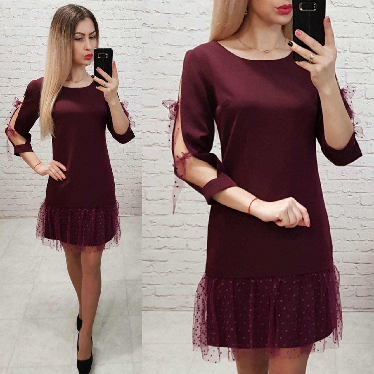 Платье арт. 154 вишня / бордо / марсала