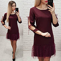 Платье арт. 154 вишня / бордо / марсала, фото 1
