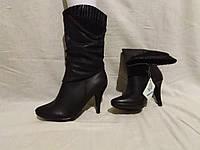 Сапожки демисезонные на каблуке, фото 1