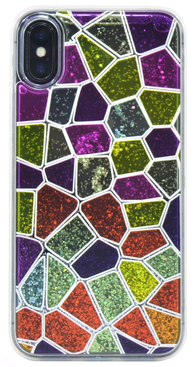 """Чохол-накладка Falabella для Apple iPhone X / XS(5.8"""") TPU+PC (Multicolored mosaic)"""