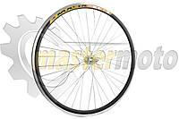 Обод велосипедный в сборе на 26 (перед, 36 спиц, дисковый тормоз,алюминий). Надпись может быть другой.