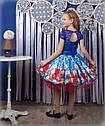 """Красивое детское платье """"Маки"""", фото 2"""