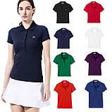Lacoste 100% бавовна 5 гудзиків РІЗНІ кольори жіноча футболка поло лакоста, фото 7