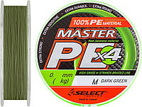 Шнур Select Master PE 150 м 0.16 мм/19 кг (Темно-зеленый)