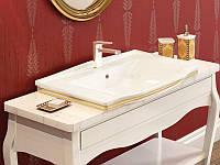 Чаша керамическая врезная - прямоугольная с золотом IDEVIT Neo Classic , фото 1