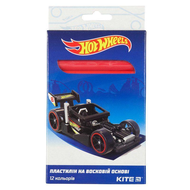 Пластилин восковой Kite Hot Wheels HW19-086, 12 цветов, 200 г