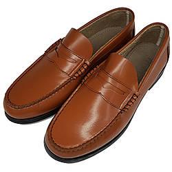 Мужские кожаные туфли лоферы Firetrap рыжие оригинал L0001/01