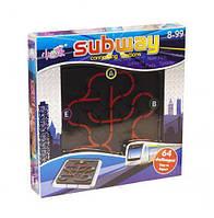 Настольная игра - головоломка Subway connecting stations, собери линии метро