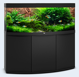 Аквариум большой JUWEL (Джувел) VISION 450 LED с выгнутым стеклом, черный 450 литров