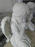 Ангелы из мрамора. Скульптура Ангела девочки № 88 из литьевого мрамора 50 см, фото 9
