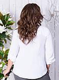 Сорочка жіноча класична з кишенями батал 50-56р.(ченрн,біла), фото 4