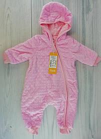 Комбінезон Демісезонний для малюків 68 см 5 місяців Рожевий Поліестер КБ99(68)р Бембі Україна