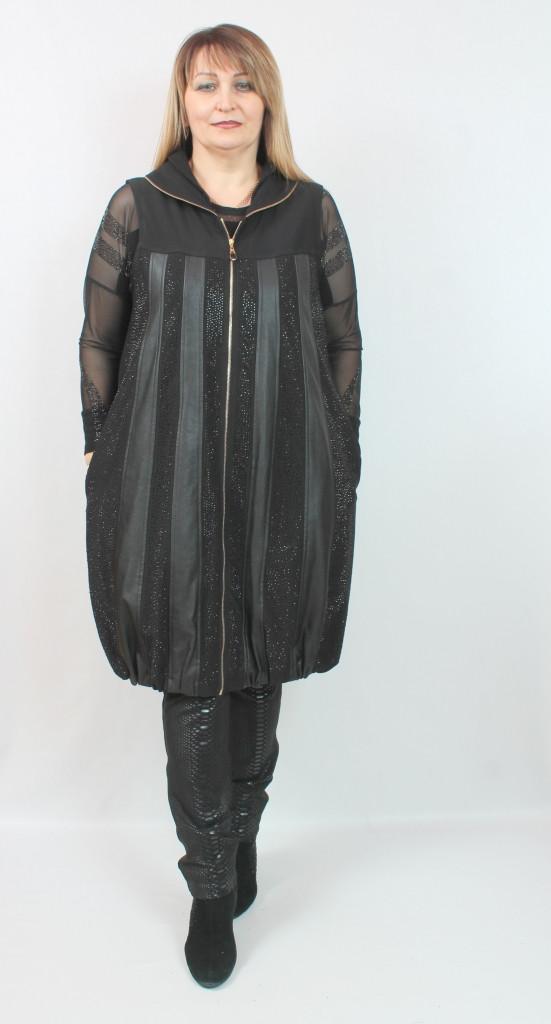 Женская длинная жилетка Турция, размеры 50-56