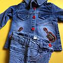 Джинсовий комплект з гітарою для дівчинки 2-3-4-5 років, фото 3