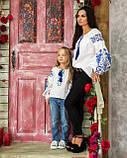Вышиванка рубашка  для девочки жар -птица синяя, фото 5
