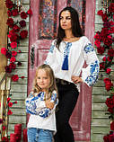 Вышиванка рубашка  для девочки жар -птица синяя, фото 4