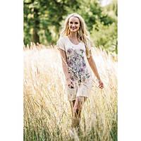 Летняя туника , платье для дома, ночная сорочка KEY LHT-520 A19, вискоза, Польша