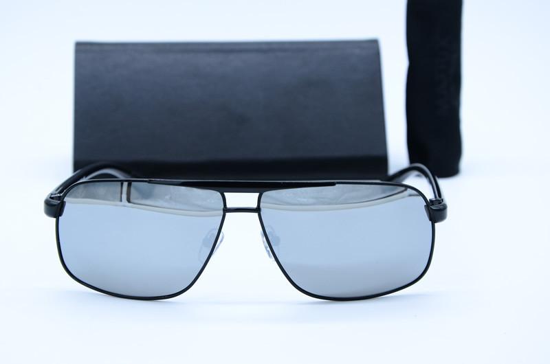 Прямоугольные мужские солнцезащитные очки 8777 зерк
