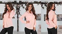 Женская классическая рубашка с воланами42,44,46р.(5расцв).