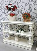 Стелаж дерев'яний різьблений Прованс ПР12 РКБ-Меблі, колір на вибір