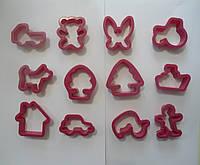 """Форма для печенья для печенья """"Ассорти""""пластик 12шт (код 04023)"""