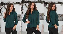 Женская блузка с V-образным вырезом 42,44,46,48р.(6расцв).