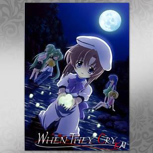 Плакат Аниме Higurashi 01