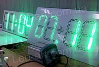Светодиодные электронные цифровые часы-термометр LED-ART-Clock-520х250-360, led часы-термометр