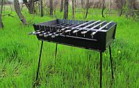Мангал чемодан складной на 10 шампуров, толщина 2мм, ручка для переноски, компактный