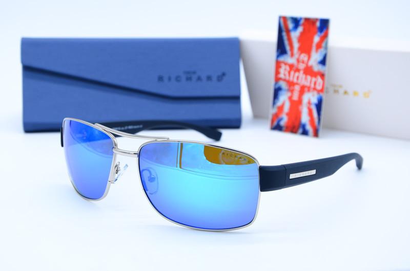 Мужские фирменные солнцезащитные очки Спорт 9319 голубые