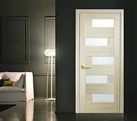 Межкомнатная дверь Пиана со стеклом сатин