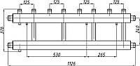 Коллектор стальной с креплением К42В.125. (240) СК-452.125 (выход вверх)