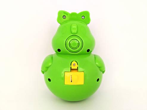 Детская музыкальная игрушка Неваляшка Уточка ( зеленая), фото 2