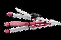 Стайлер для волос 3 в 1 Gemei GM-2921, утюжок для волос, плойка, гофре, фото 1