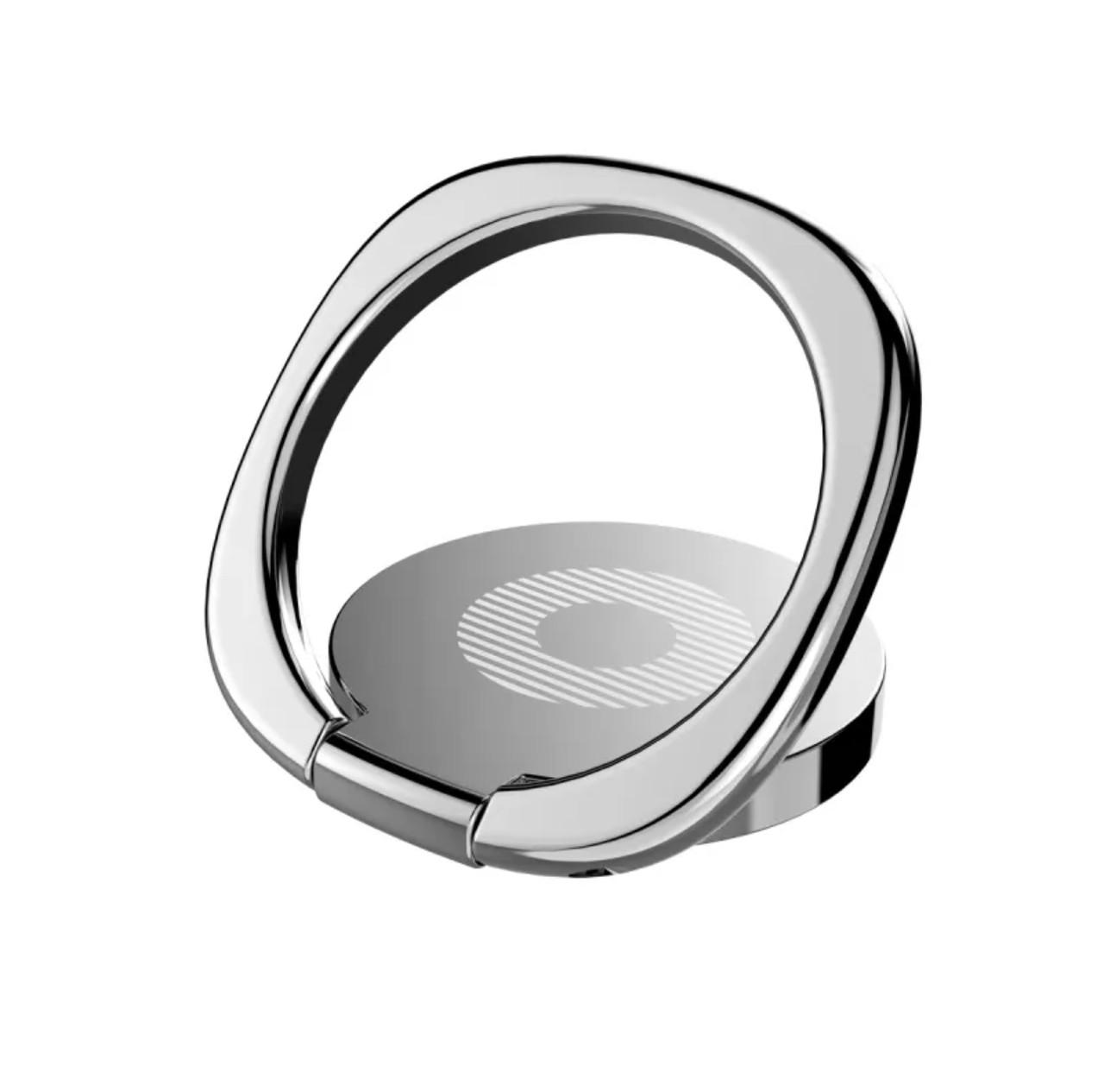 Кольцо-подставка/попсокет для телефона «Universe» металлический (серебро)