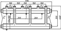 Коллектор стальной с креплением К32В.150. (300) СК-353.150 (выход вверх)
