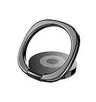 Кольцо-подставка/попсокет для телефона «Universe» металлический (черный)