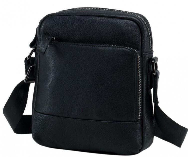 Кожаный мессенджер Tiding Bag 9815A, мужской, черный