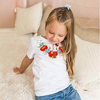 Вышиванка для девочки короткий рукав, фото 1