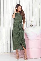 """Приталенное миди-платье в горошек """"Campbelll"""" с коротким рукавом (3 цвета), фото 2"""